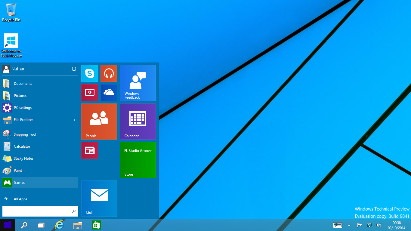 Windows 10 Technical Preview Wallpapers 1366x768