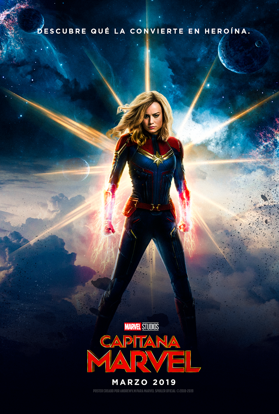 Captain Marvel HD Posters Wallpapers Photos and actress Brie 1080x1600