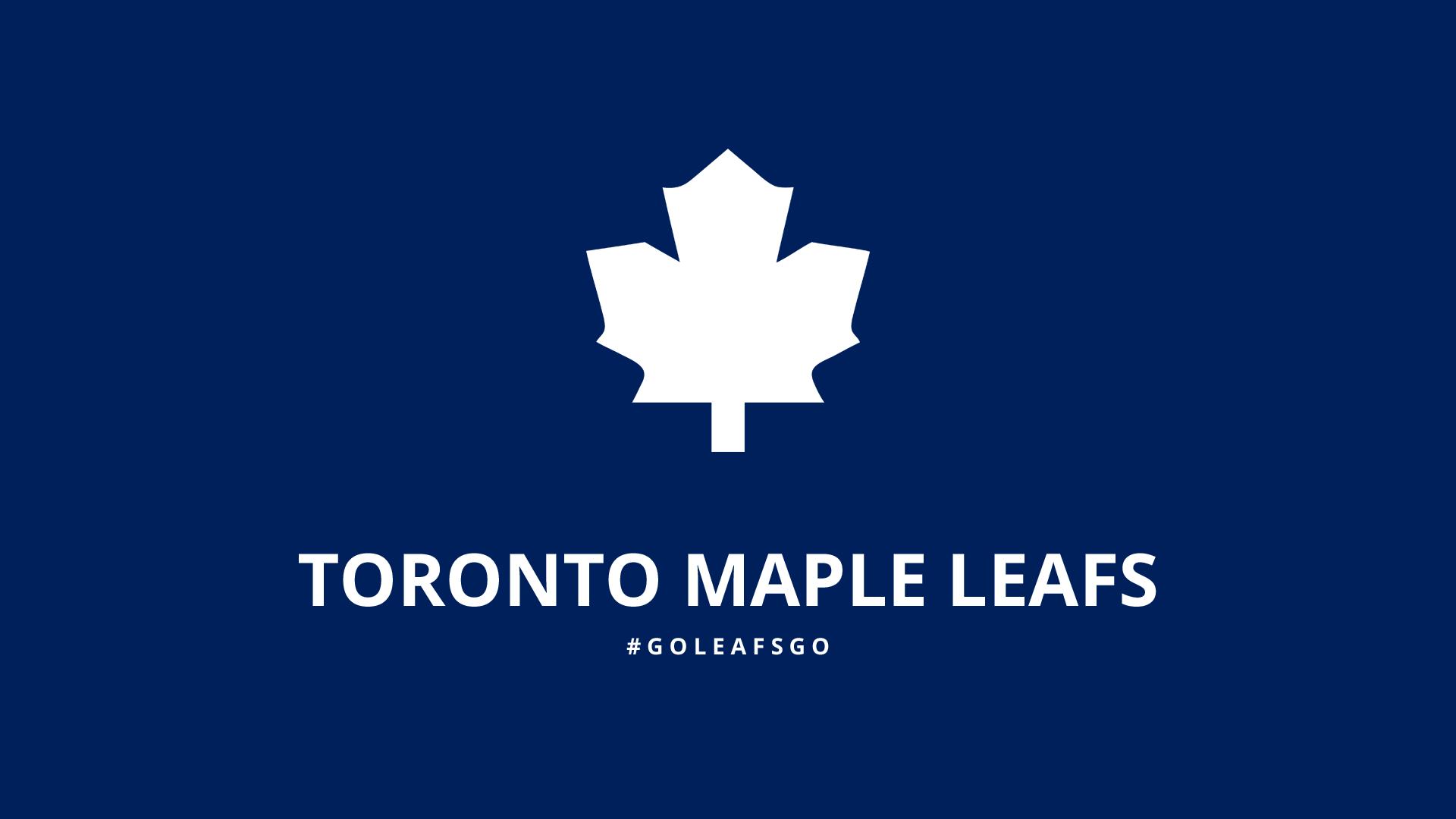 Minimalist Toronto Maple Leafs wallpaper by lfiore 1920x1080