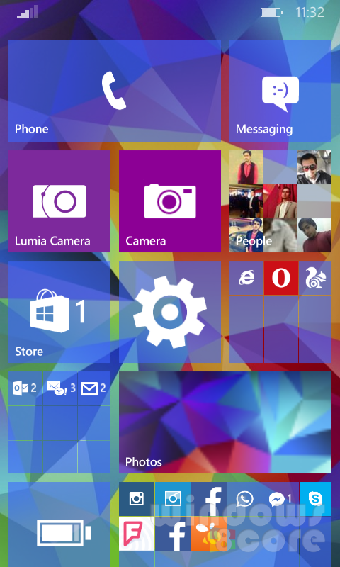 10 for Phone How to set translucent background image for Start Screen 480x800