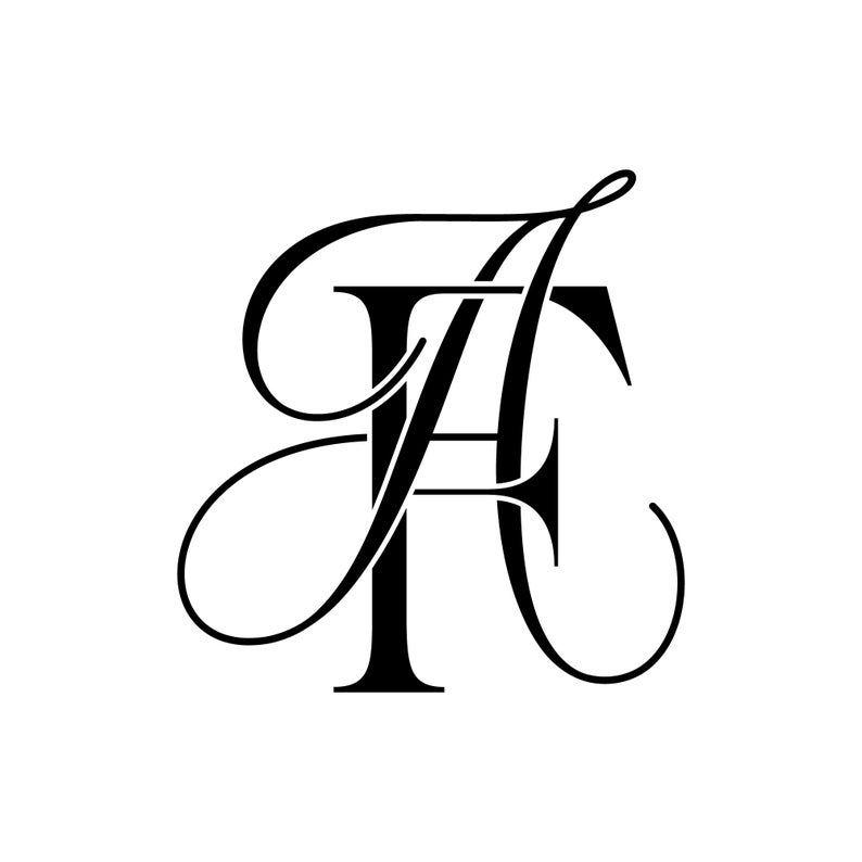 Wedding Logo Design Wedding Monogram Wedding Logo AF FA Etsy in 794x794