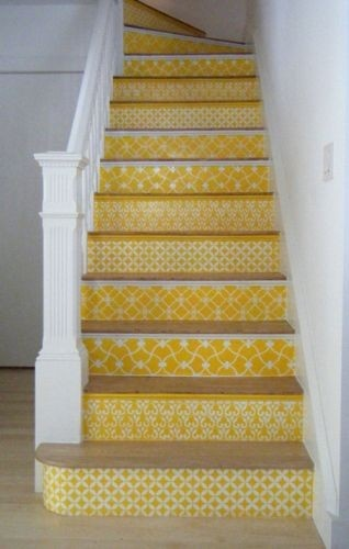 coordinating wallpaper on the stairs For the Home Pinterest 318x500