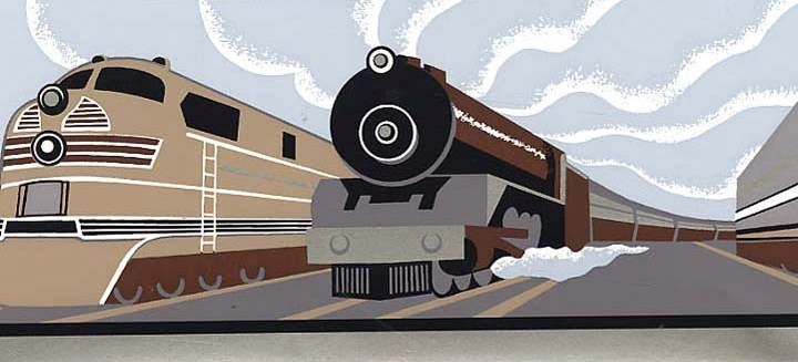 Vintage Train Wallpaper Border   Baby Nursery Kids Wallpaper Borders 720x327