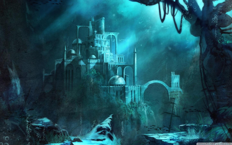 Trine 2 Underwater Castle 4K HD Desktop Wallpaper for 4K Ultra 1440x900