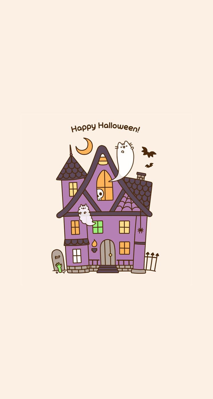 pusheen wallpaper phone background halloween Lockscreens 744x1392