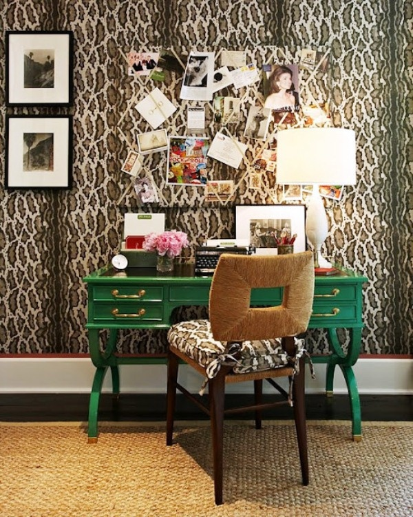 who said wallpaper is out of style Leopardlicious Pinterest 600x751