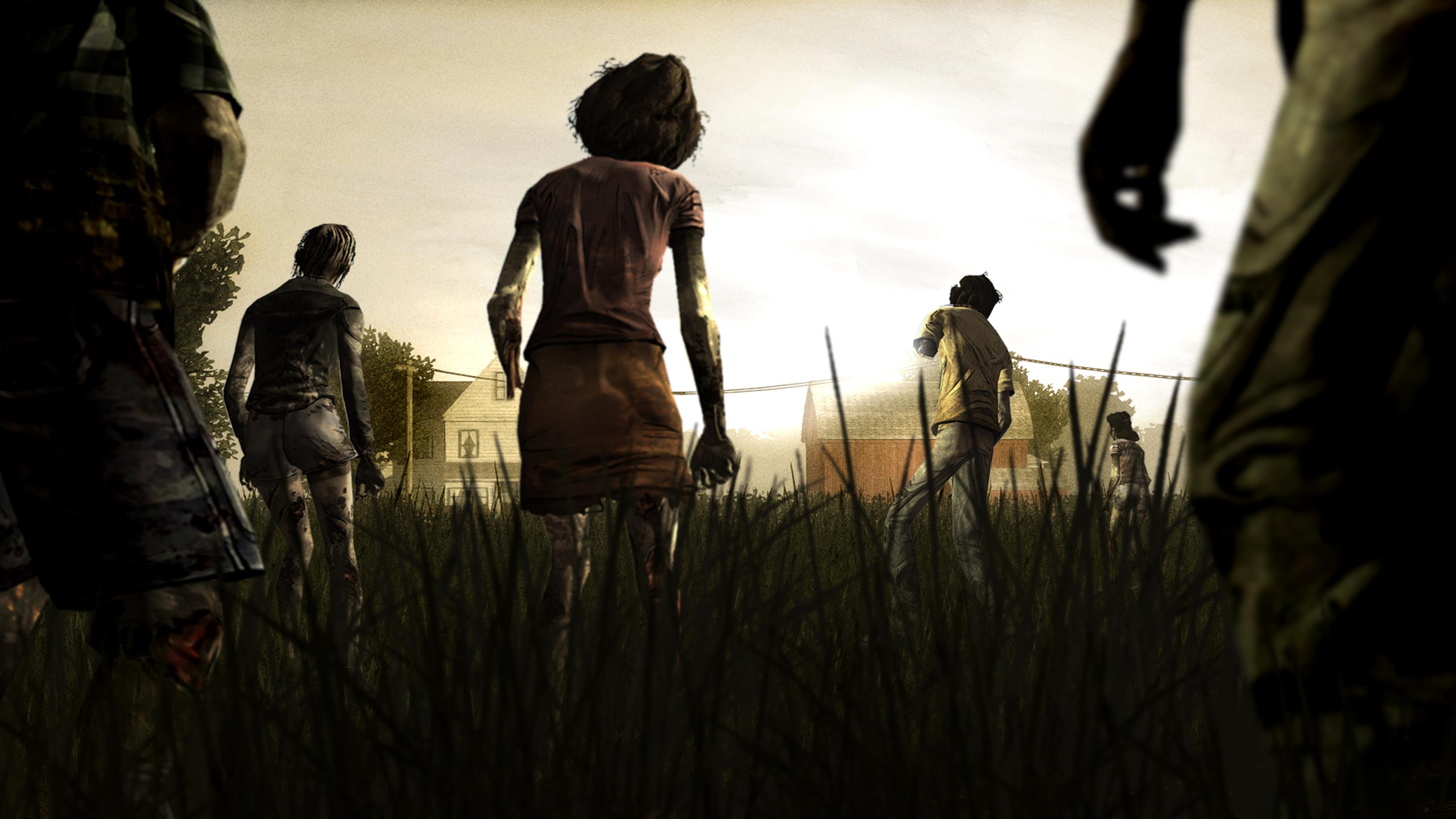 zombie The Walking Dead game wallpaper is a hi res Wallpaper 3200x1800