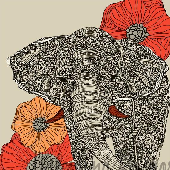 Hindu Poster Art: Indian Elephant Wallpaper