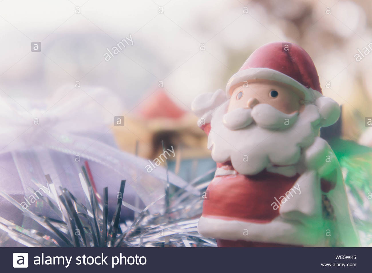 santa claus and chirstmas background Stock Photo 266890601   Alamy 1300x955