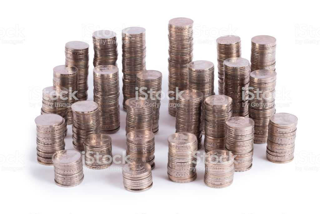 Coin Stack On White Background Quetzal Guatemala Central America 1024x685