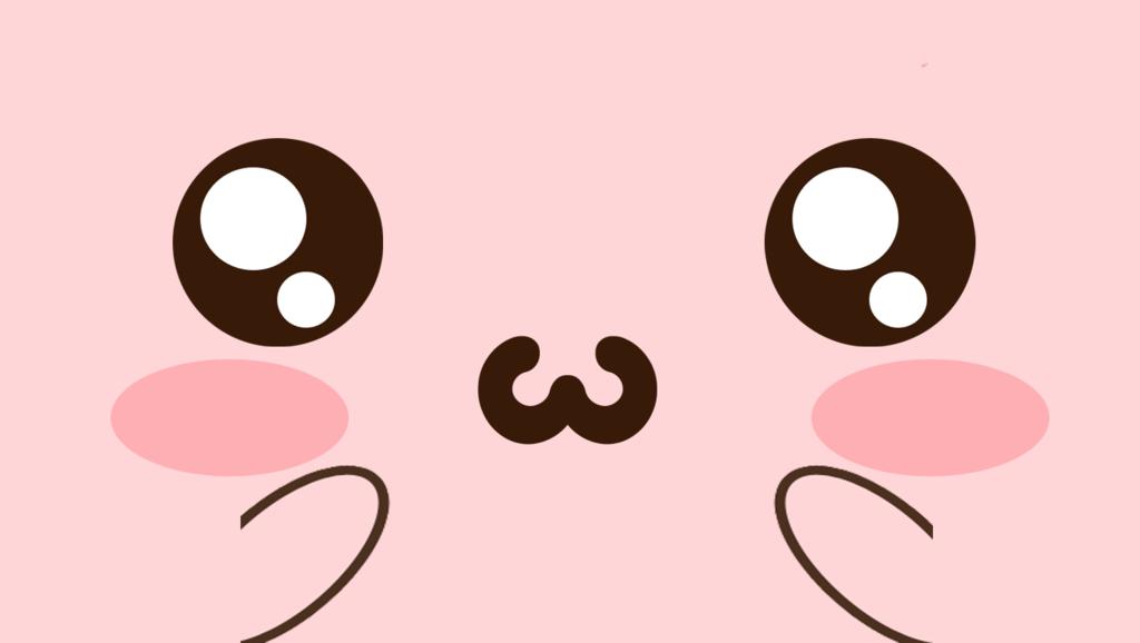 Wallpaper] Kawaii Face Pink by KawaiStore 1024x578