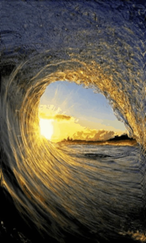 Download Ocean Wave Surf Live Wallpaper for your Android phone 480x800