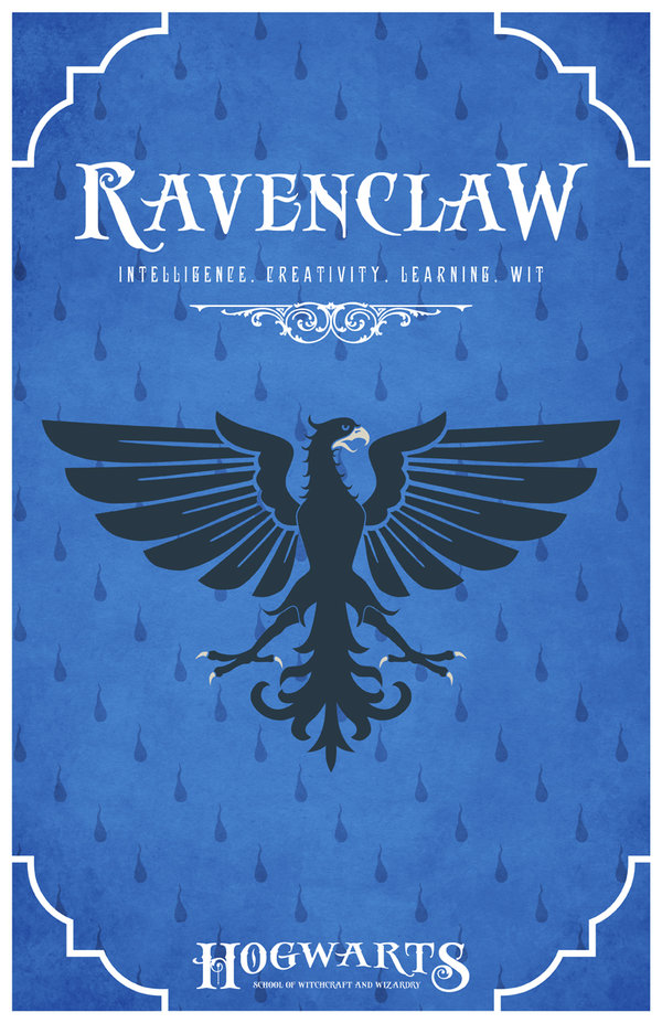 House Ravenclaw Poster by LiquidSoulDesign 600x927