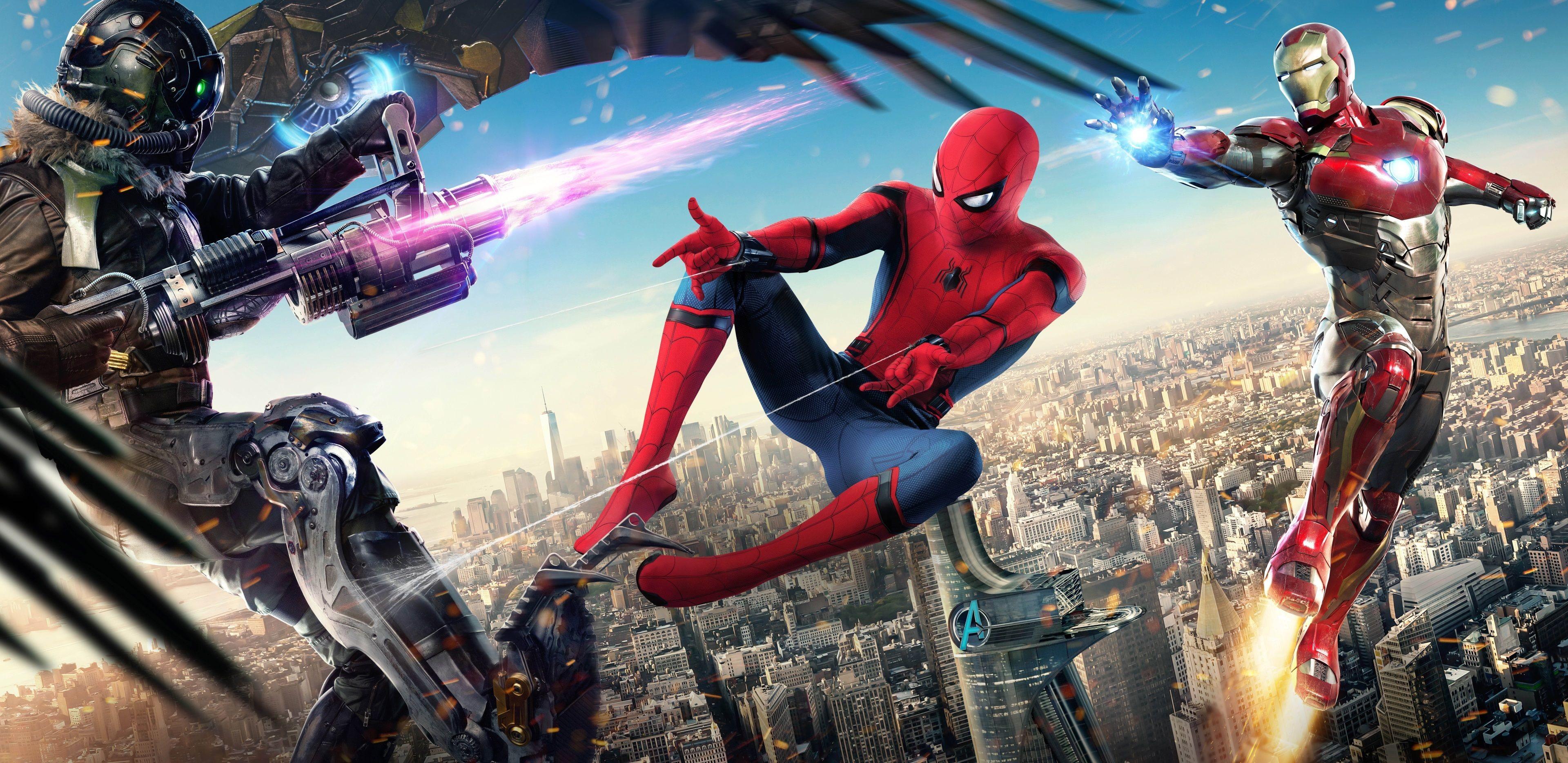 40 Wallpaper Art Spider Man Homecoming On Wallpapersafari