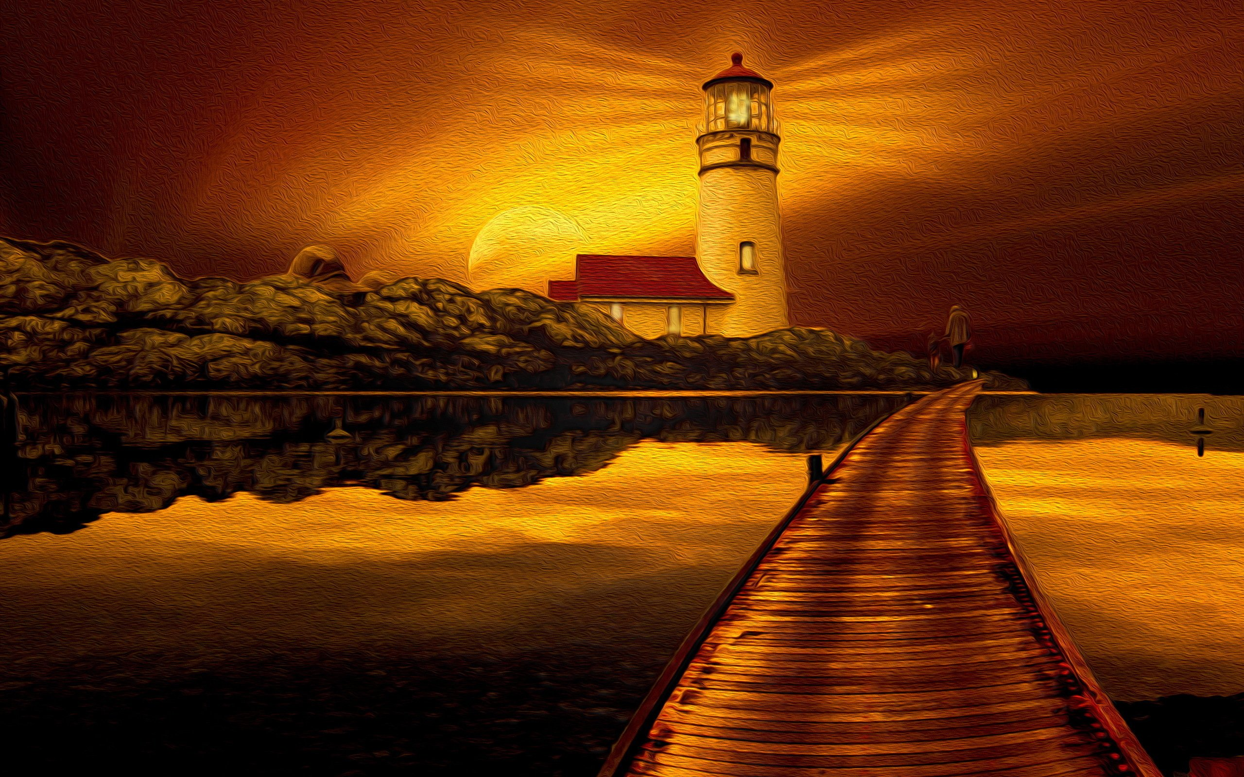 File Name Beautiful image of lighthouse desktop wallpaper of sunset 2560x1600