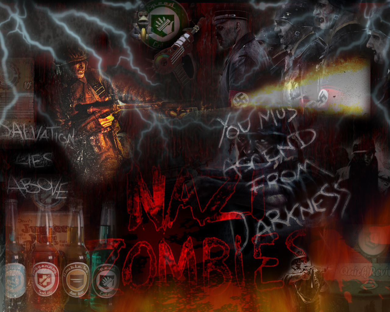 Go Green Nazi Zombies Wallpaper 1280x1024