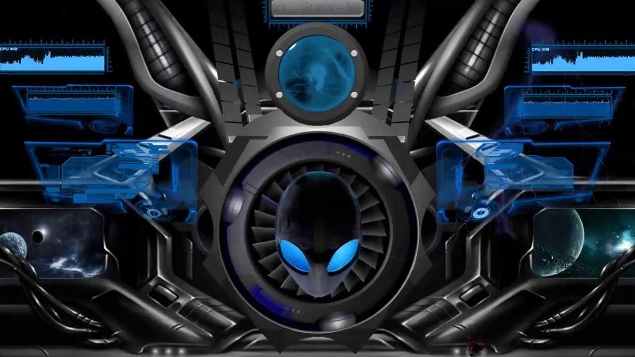 This my HUD Evolution Theme with Rainmeter Alienware Media Skin 1280x720