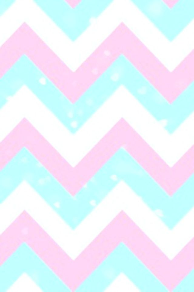 Pink blue and white chevron wallpaper pattern Backgrounds 640x960