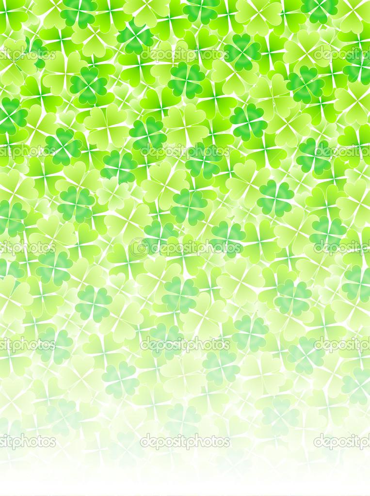 Four Leaf Clovers Background Four Leaf Clover Leaf Background Vector 763x1023