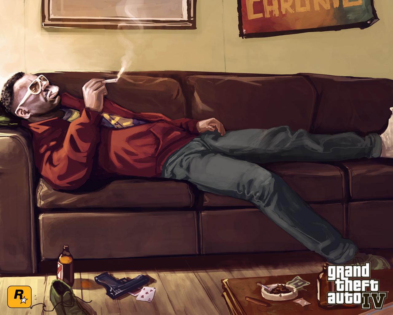Fond ecran wallpaper Grand Theft Auto 4   JeuxVideofr 1280x1024