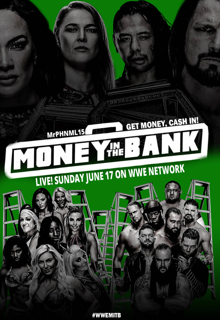 WWE Money in the Bank 2018 Custom Poster 2 by MrPHENOMENAL15 on 740x1079