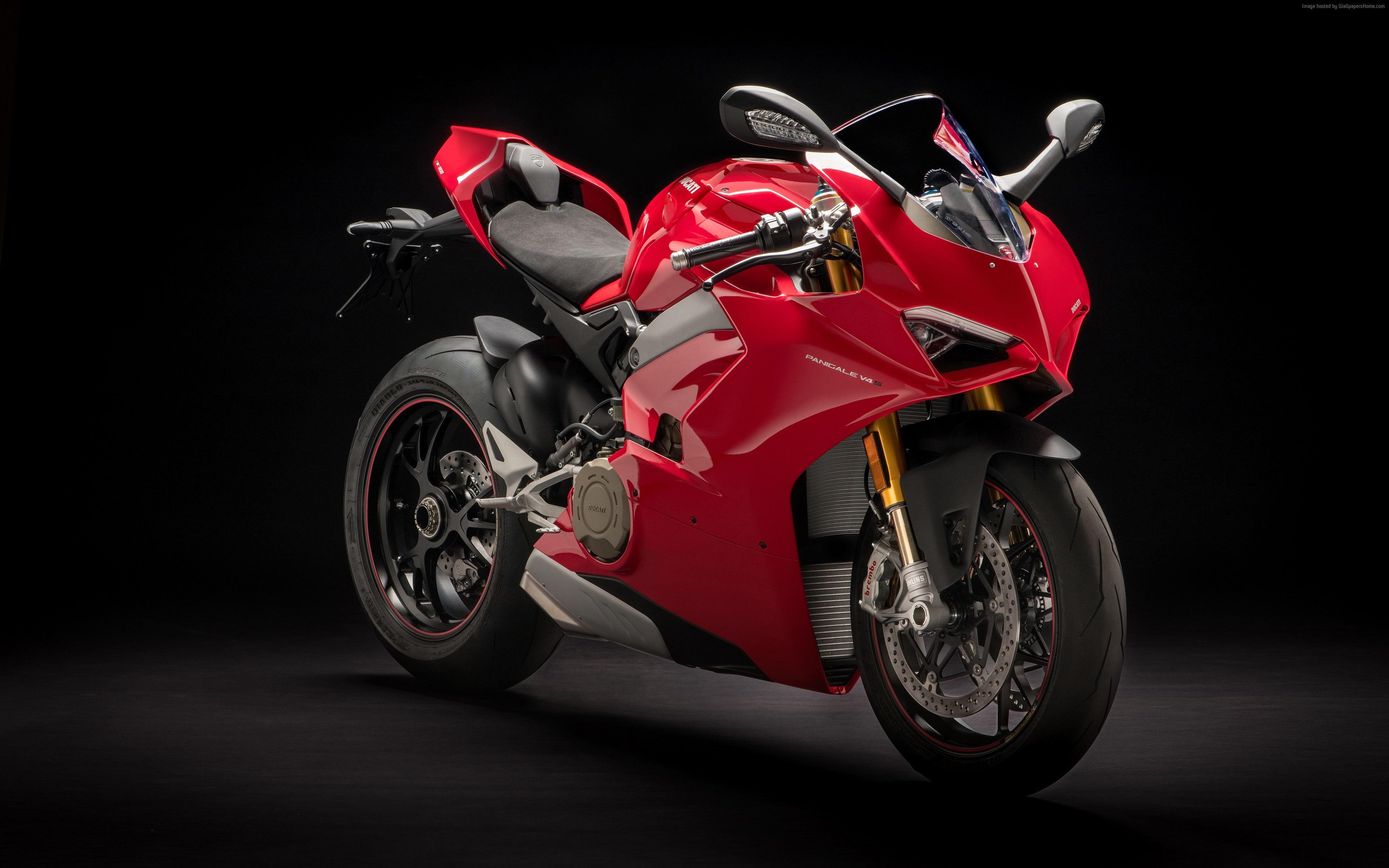 HD wallpaper 2018 Ducati Panigale V4 S 4K mode of transportation 3840x2400