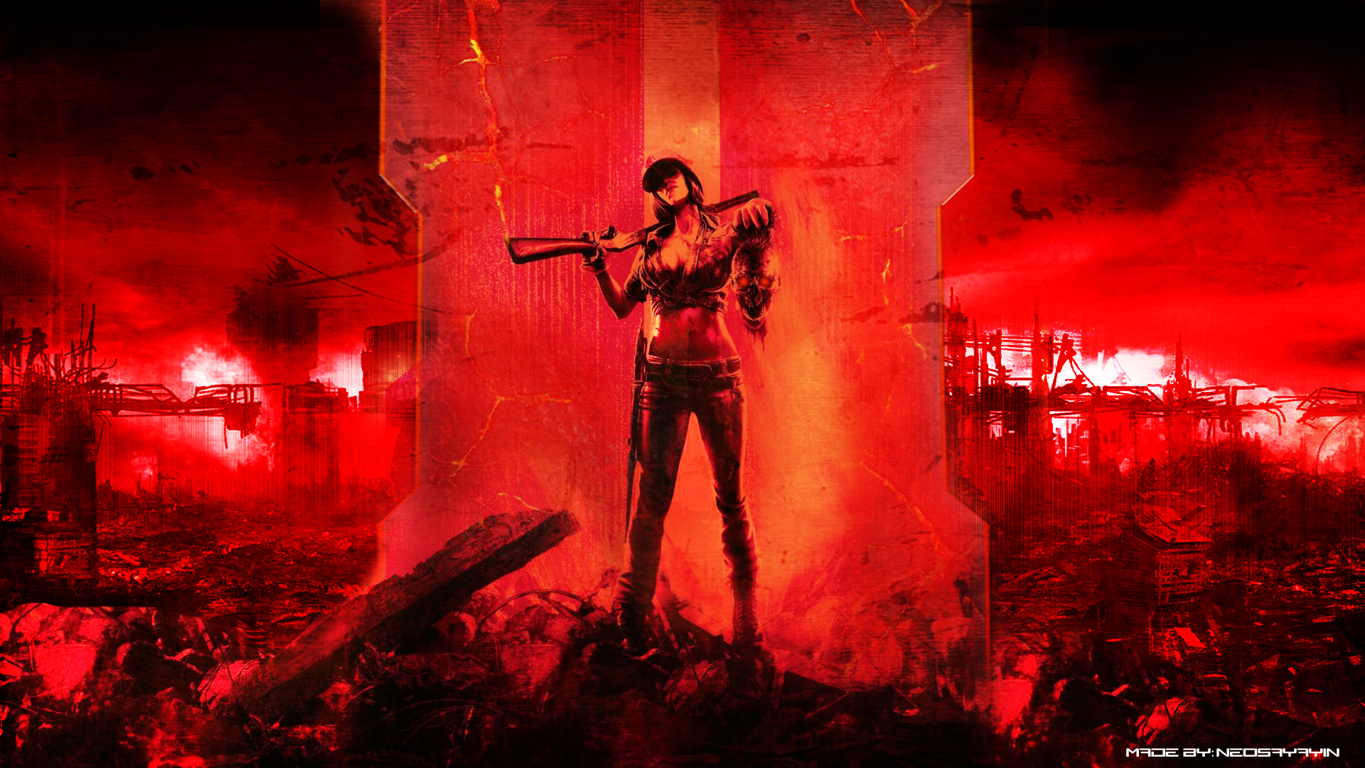 call of duty  black ops 2 zombies wallpaper by neosayayin d4yi9i4 1920x1080