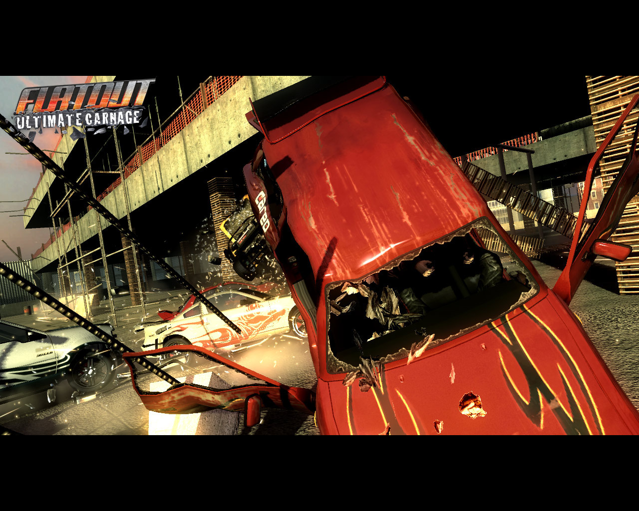 Car Crash  FlatOut Ultimate Carnage Wallpaper Gallery   Best 1280x1024