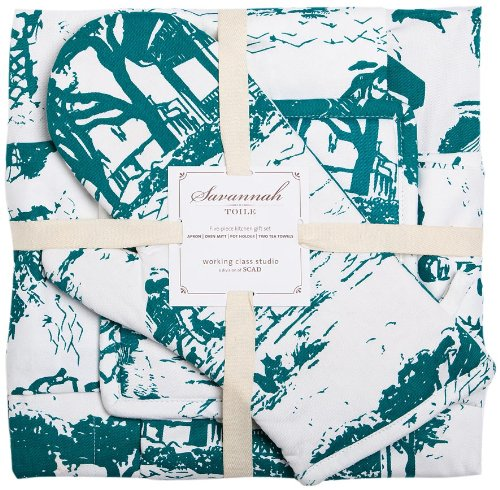 Working Class Studio The Savannah Toile Kitchen Collection Gift Set 500x490