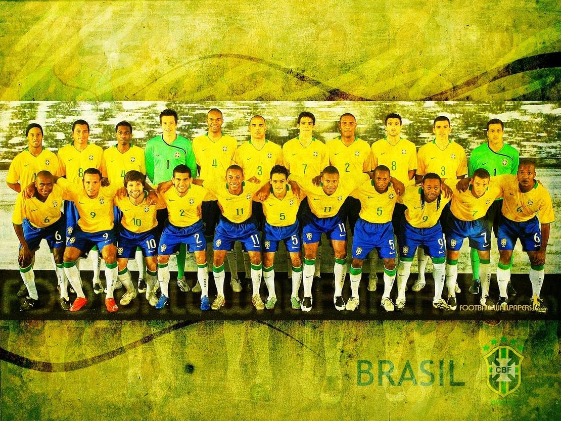 football wallpaper and news Brazil Team Wallpaper World Cup 2010 1110x833