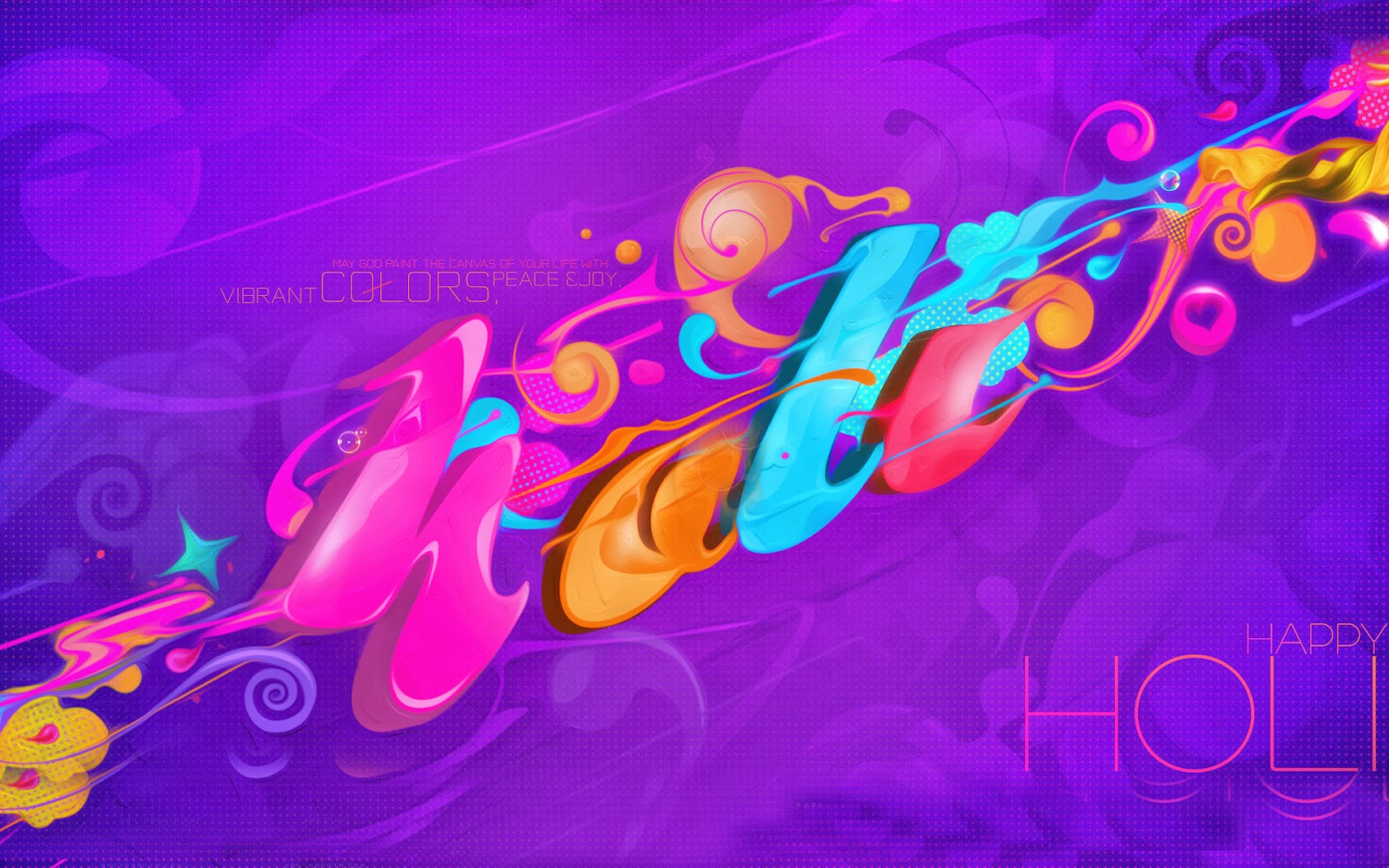 Happy Holi 2014 Animated 3D wallpapers Download Happy Holi 1600x1000