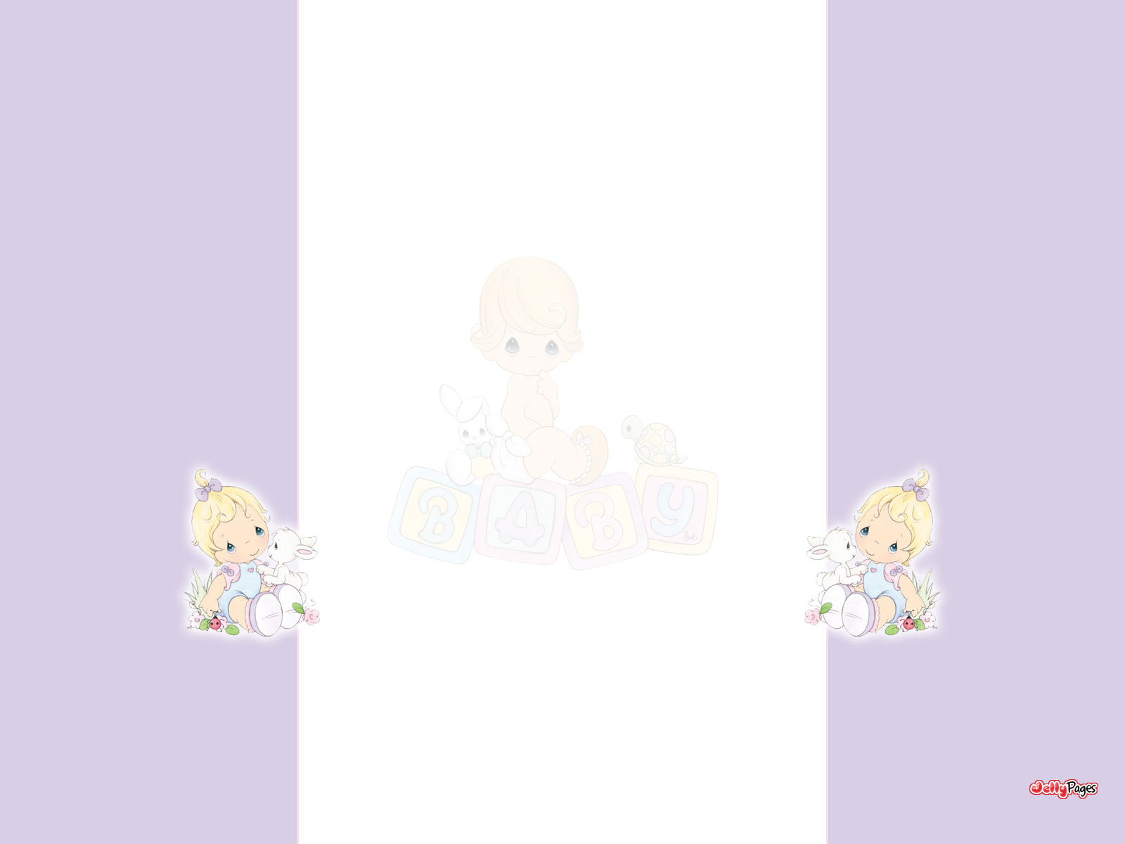 Precious Moments Baby Girl Blogger Layout Template Blog Background 1600x1200