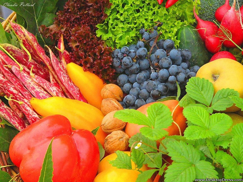 Desktop Wallpapers Other Backgrounds Fruits and Vegetables 1024x768