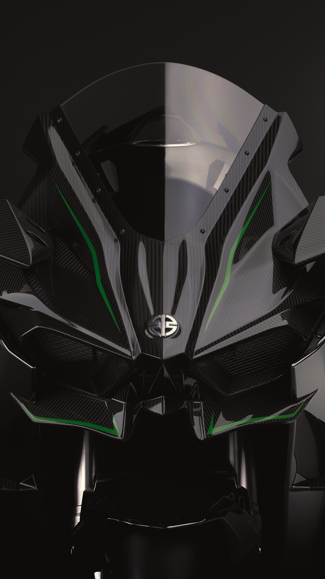 Kawasaki H2R Front IPhone Parallax 3Wallpapers Les 3 Wallpapers 1242x2208