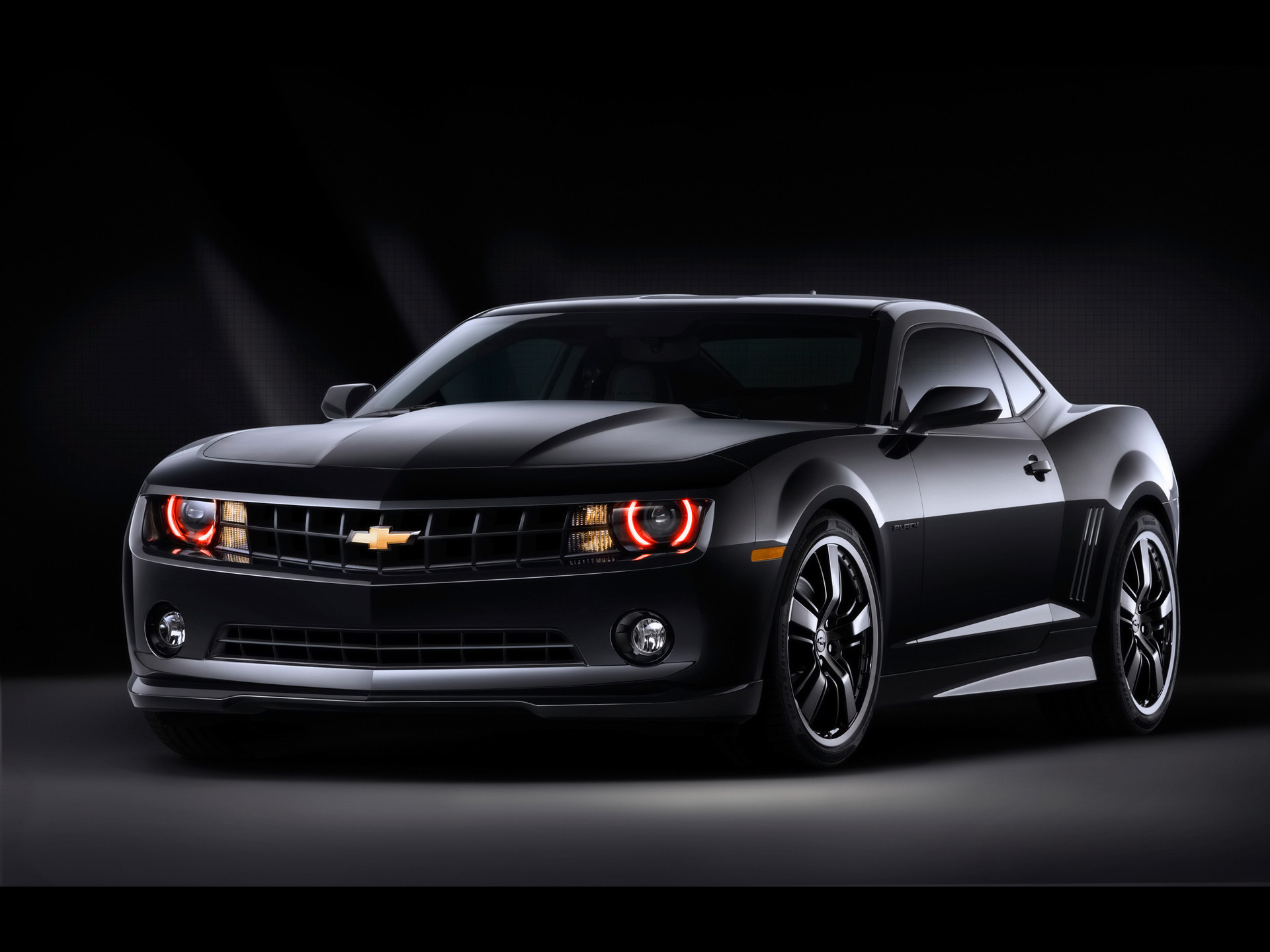 1920x1440 Camaro black front desktop PC and Mac wallpaper 1920x1440