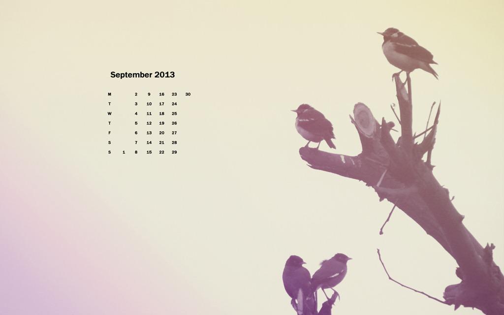 Desktop Wallpaper Calendar September 2013 1024x640