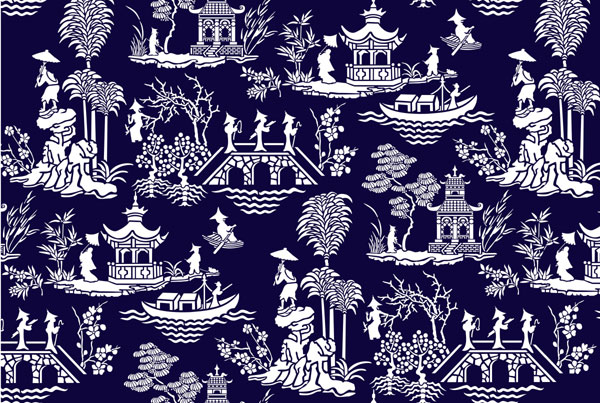 Oriental Wallpaper Designs 600x403
