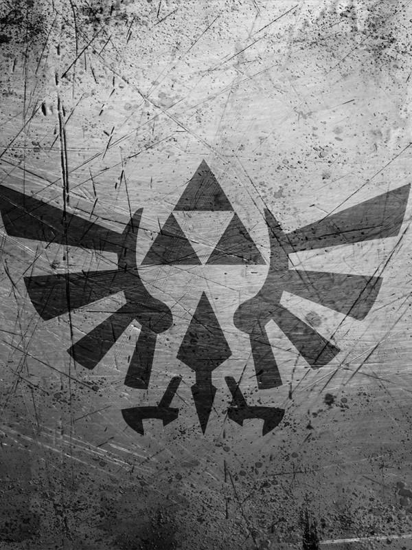The Legend of Zelda Grunge Logo screensaver for Amazon Kindle 3 600x800