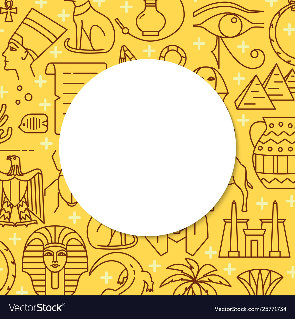 Line style background with egypt symbols and place 1000x1080