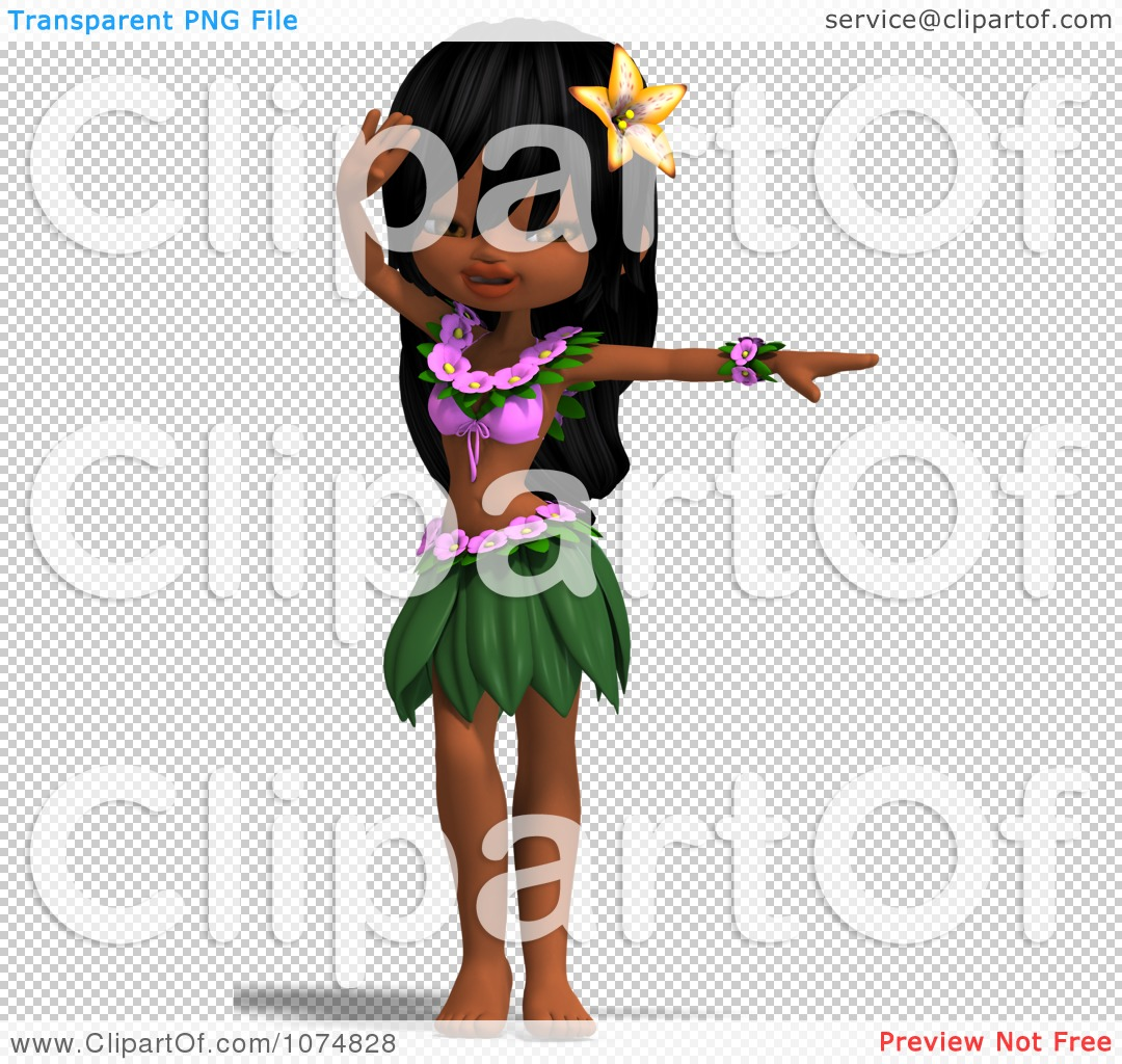 3d Hula Dancer Girl 10 Royalty Cgi Illustration By Picture 1080x1024