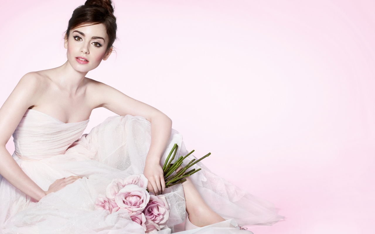 Lily Collins 2016 Wallpapers in jpg format for download 1280x800