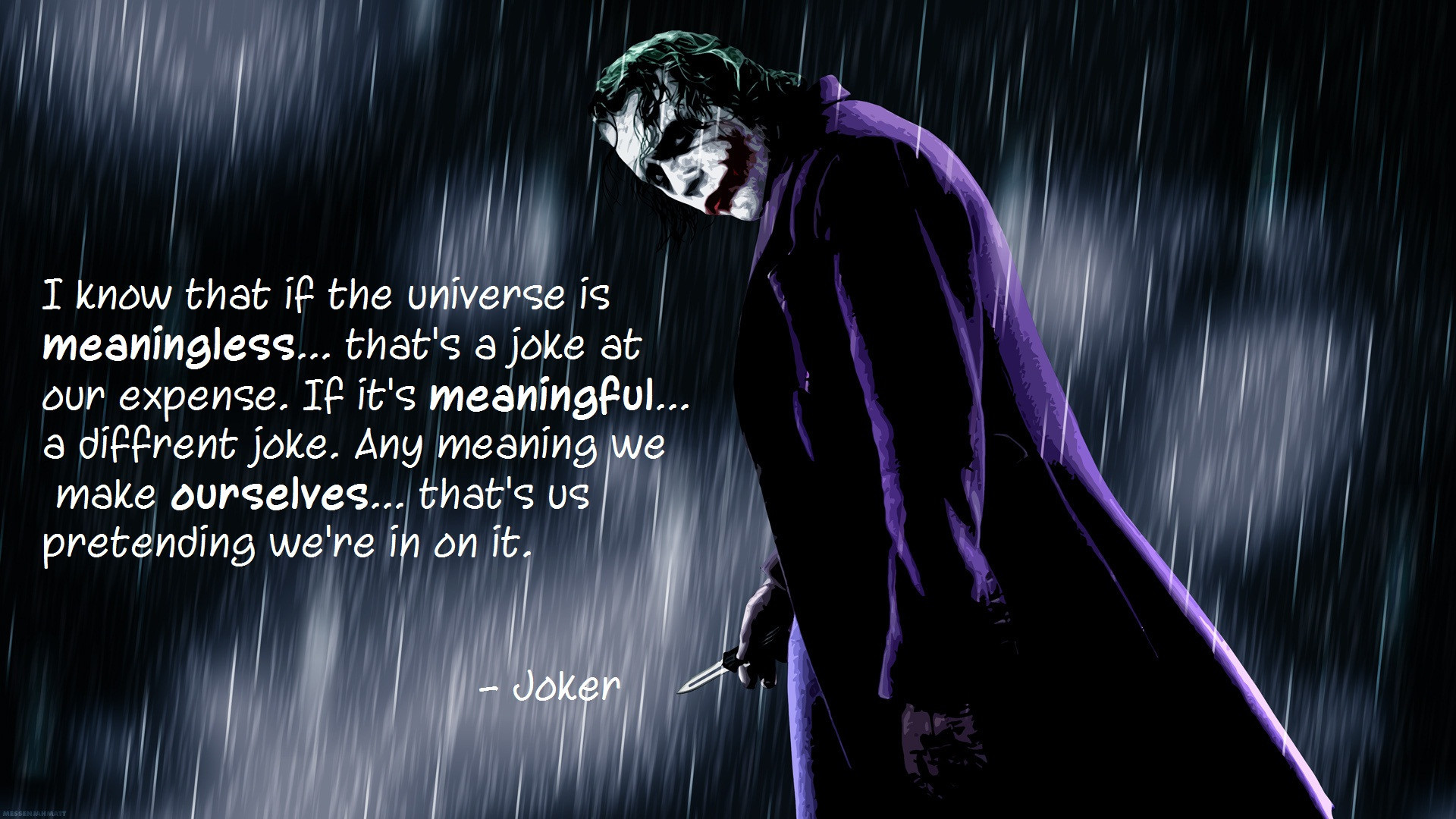 The Joker Quotes Wallpapers posted by Michelle Mercado 1920x1080
