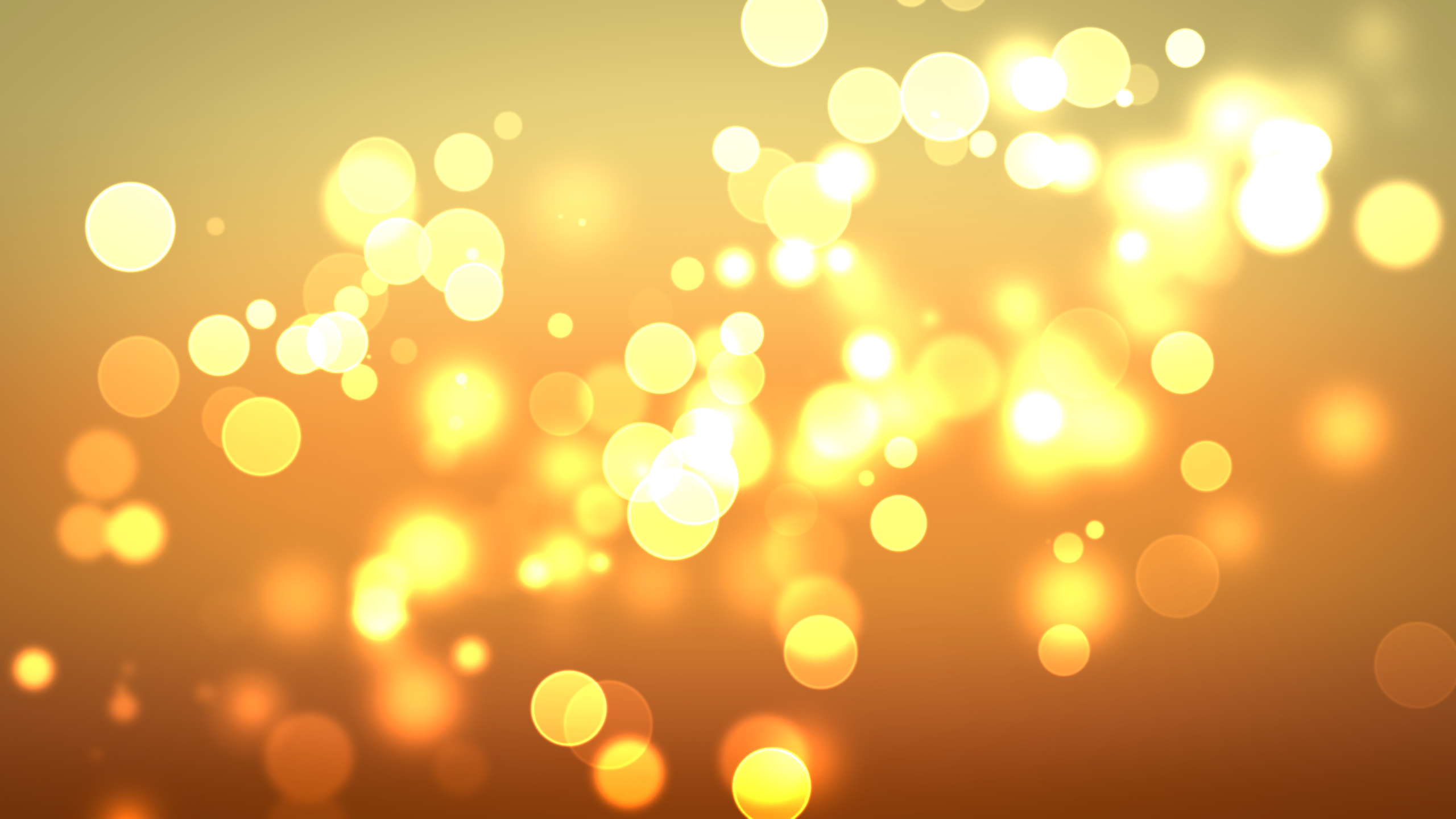 Golden circles of light wallpaper 16417 2560x1440