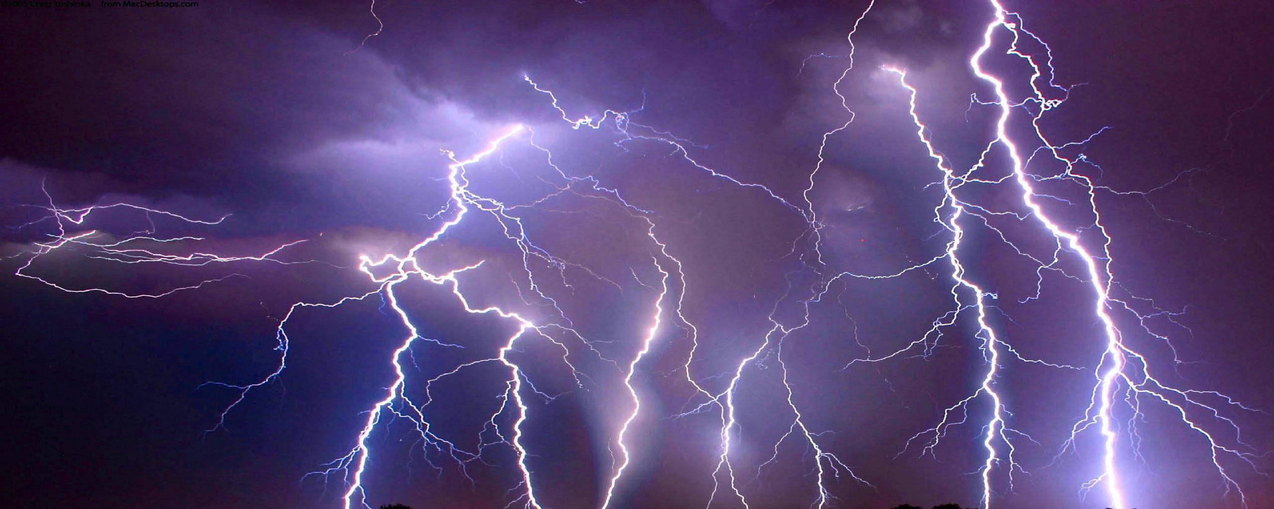 Storm Lightning 25601024 Wallpaper 785566 2560x1024