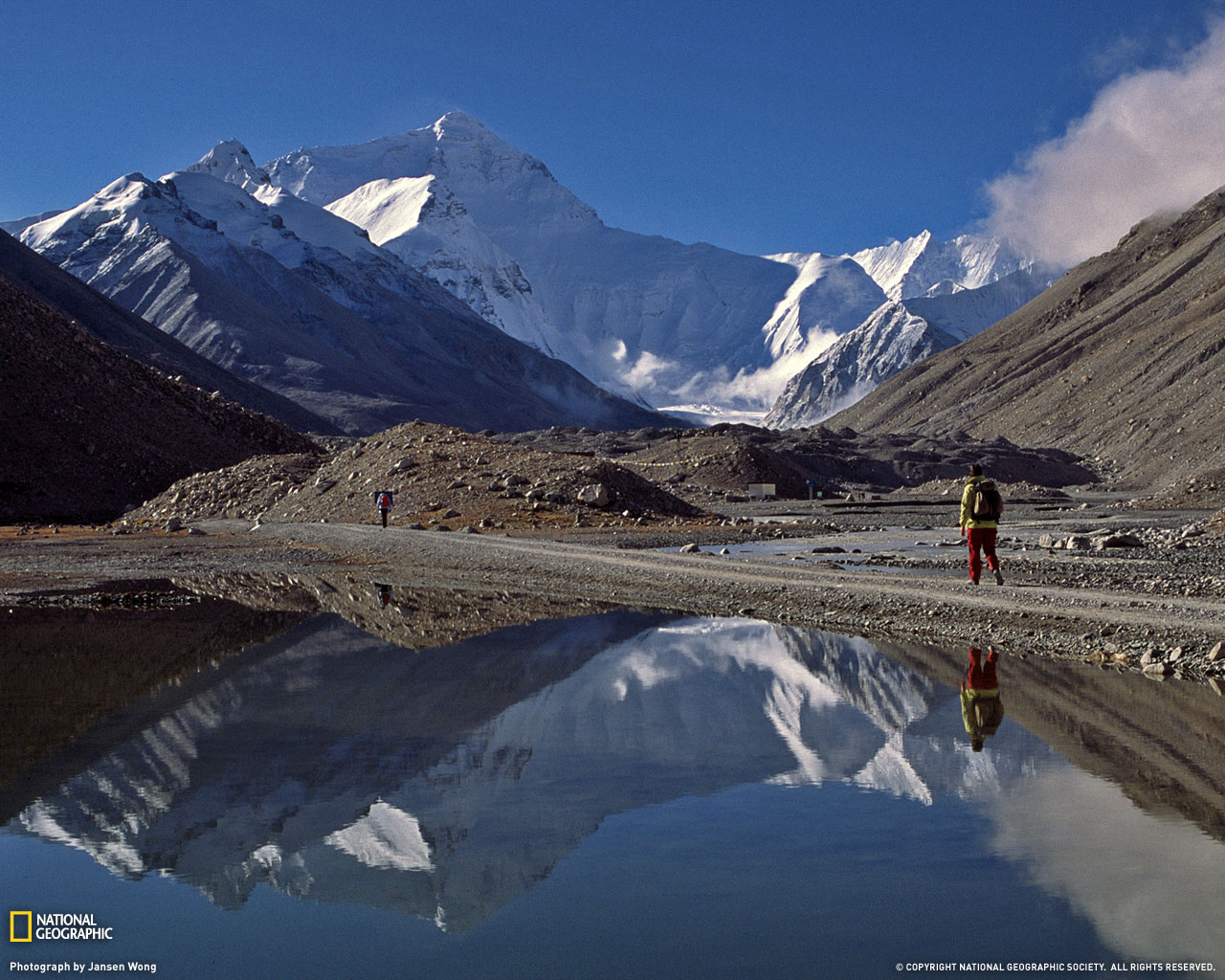 Mountain Reflection Picture Tibet Wallpaper    National Geographic 1280x1024