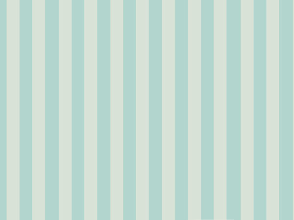 Traditional striped wallpaper for a dolls house in beige and blue 600x450