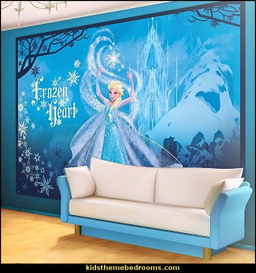 Frozen theme bedroom decor   Disney Frozen bedroom decorating ideas 504x537