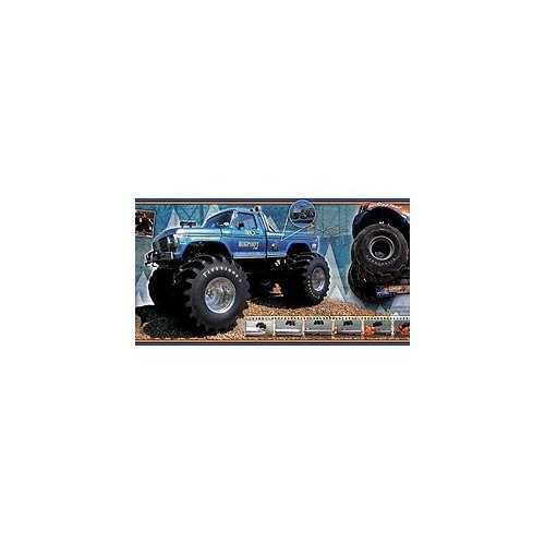 Bigfoot Store FORD BIGFOOT monster truck decor WALLPAPER BORDER 12 500x500