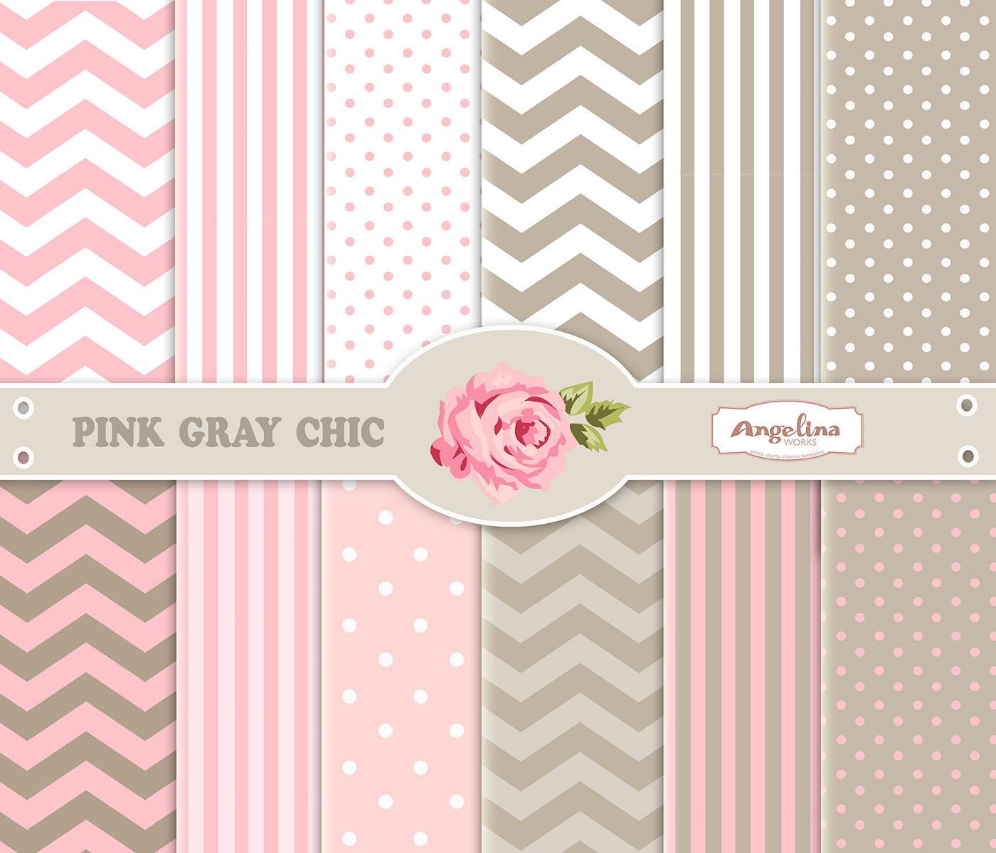 Pink And Grey Chevron Wallpaper 12 digital pink gray chevron