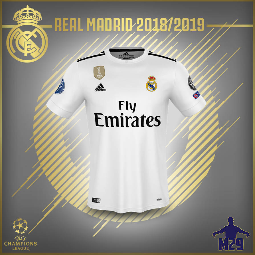 REAL MADRID 1819 KIT ADIDAS WALLPAPER by MannyHD29 894x894